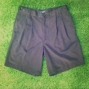 Dockers Pleaded Men's Black Dress Shorts Size 32